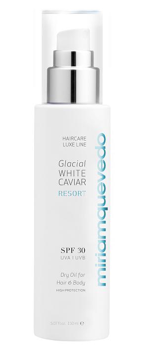 MIRIAM QUEVEDO GLACIAL WHITE CAVIAR RESORT Spf 30 Dry Oil for Hair and Body 150ml