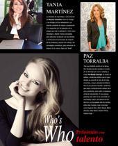 Who´s Who. Profesionales con talento. Paz Torralba